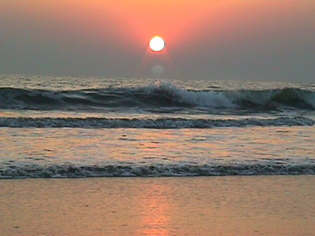 Sunset at Cox's Bazar Beach, Bangladesh